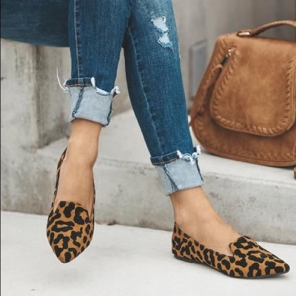 Shoes | Last One Leopard Print Loafers
